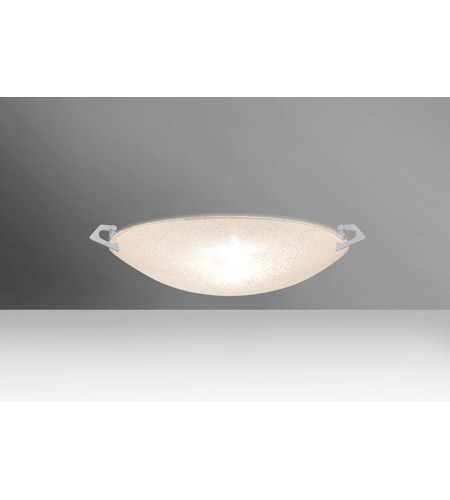 Besa Lighting 8417GL-SN Sonya 13 1 Light 13 inch Satin Nickel Flush Mount Ceiling Light in Halogen, Glitter Glass photo thumbnail