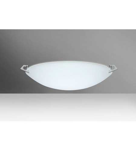 Besa Lighting 841825-PN Sonya 17 2 Light 17 inch Polished Nickel Flush Mount Ceiling Light in Halogen, Satin Frost Glass photo thumbnail