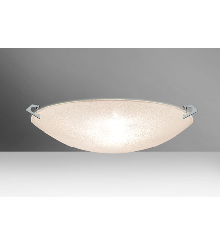 Besa Lighting 8419GL-PN Sonya 20 3 Light 21 inch Polished Nickel Flush Mount Ceiling Light in Halogen, Glitter Glass photo thumbnail