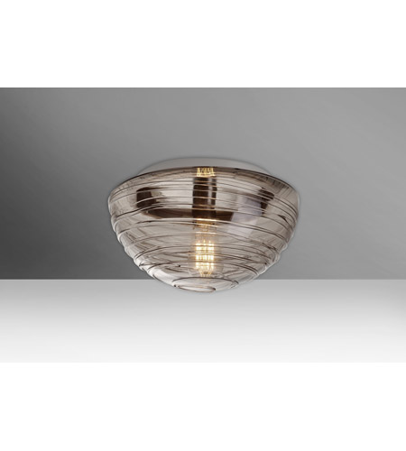 Besa Lighting 906202c Edi Wave 12 1 Light Inch Flush Mount Ceiling In Edison