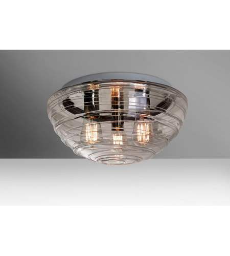 Wave 15 3 Light Inch Flush Mount Ceiling In Edison