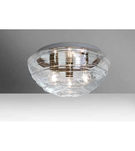 Besa lighting 906361c wave 3 light 15 inch flush mount ceiling light besa lighting 906361c wave 3 light 15 inch flush mount ceiling light in clear glass incandescent aloadofball Gallery