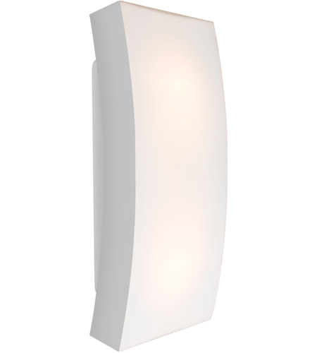 Besa Lighting Billow15 Sl Billow 2 Light 16 Inch Silver Outdoor Wall Sconce