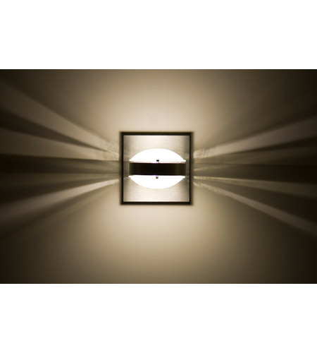 Besa lighting optos1w frfr ba optos 1 light 5 inch brushed aluminum besa lighting optos1w frfr ba optos 1 light 5 inch brushed aluminum wall sconce wall light in frostfrost dicro glass halogen aloadofball Images