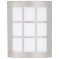 Besa Lighting 104-842007-SL Moto 8 Grid 1 Light 10 inch Silver Outdoor Sconce