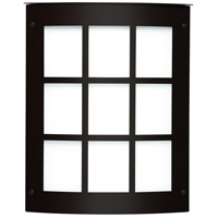 Moto 8 Grid 1 Light 10 inch Black Outdoor Sconce