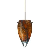 Besa Lighting 1JT-4125CE-LED-BR Juli LED Bronze Pendant Ceiling Light in Ceylon Glass