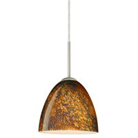 Besa Lighting 1JT-4470CE-LED-SN Vila LED Satin Nickel Pendant Ceiling Light in Ceylon Glass