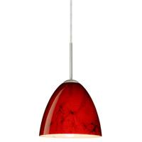 Besa Lighting 1JT-4470MA-LED-SN Vila LED Satin Nickel Pendant Ceiling Light in Magma Glass