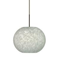 Besa Lighting 1JT-477619-LED-BR Luna LED Bronze Pendant Ceiling Light in Carrera Glass