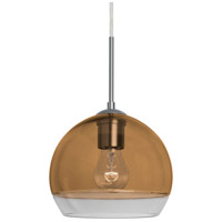 Besa Lighting 1JT-ALLY8AM-SN Ally 1 Light Satin Nickel Pendant Ceiling Light
