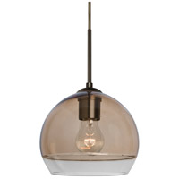 Besa Lighting 1JT-ALLY8SM-BR Ally 1 Light Bronze Pendant Ceiling Light