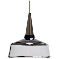 Besa Lighting 1JT-BARON10BK-LED-BR Baron 1 Light Bronze Pendant Ceiling Light