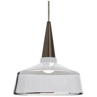 Besa Lighting 1JT-BARON10WH-BR Baron 1 Light Bronze Pendant Ceiling Light