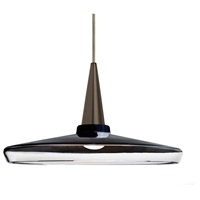 Besa Lighting 1JT-BARON14BK-LED-BR Baron 1 Light Bronze Pendant Ceiling Light