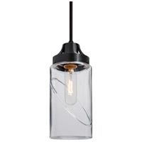 Besa Lighting 1JT-BLINKCL-BK Blink 1 Light Black Pendant Ceiling Light