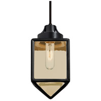 Besa Lighting 1JT-BRAVOBK-BK Bravo 1 Light Black Pendant Ceiling Light