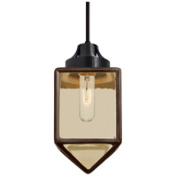 Besa Lighting 1JT-BRAVOBR-BK Bravo 1 Light Black Pendant Ceiling Light