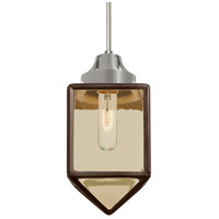 Besa Lighting 1JT-BRAVOBR-SN Bravo 1 Light Satin Nickel Pendant Ceiling Light