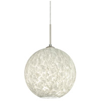Besa Lighting 1JT-COCO1219-LED-SN Coco 12 LED Satin Nickel Cord Pendant Ceiling Light