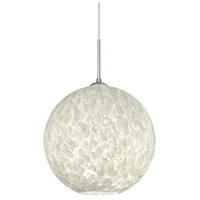 Besa Lighting 1JT-COCO1419-LED-SN Coco 14 LED Satin Nickel Cord Pendant Ceiling Light