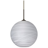 Besa Lighting 1JT-COCO1460-LED-BR Coco 14 LED Bronze Cord Pendant Ceiling Light