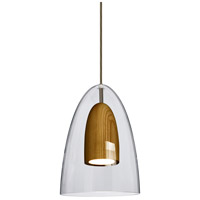 Besa Lighting 1JT-DANOCLMD-LED-BR Dano LED Bronze Pendant Ceiling Light
