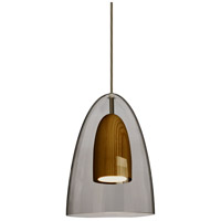 Besa Lighting 1JT-DANOSMMD-LED-BR Dano LED Bronze Pendant Ceiling Light
