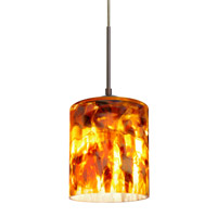 Besa Lighting Falla LED Bronze Pendant Ceiling Light in Coffee Glass