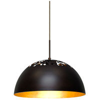Besa Lighting 1JT-GORDY-BR Gordy 1 Light Bronze Cord Pendant Ceiling Light in Gold Foil Bronze Incandescent
