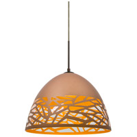 Kiev 1 Light Bronze Cord Pendant Ceiling Light in Copper Kiev, Incandescent