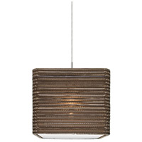 Besa Lighting 1JT-KIRK12-LED-SN Kirk 12 LED Satin Nickel Cord Pendant Ceiling Light