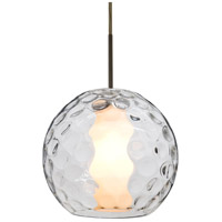 Besa Lighting 1JT-LAYLACL-BR Layla 1 Light Bronze Pendant Ceiling Light