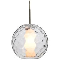 Besa Lighting 1JT-LAYLACL-LED-BR Layla LED Bronze Pendant Ceiling Light