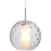 Besa Lighting 1JT-LAYLACL-SN Layla 1 Light Satin Nickel Pendant Ceiling Light