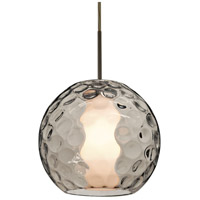 Besa Lighting 1JT-LAYLASM-BR Layla 1 Light Bronze Pendant Ceiling Light