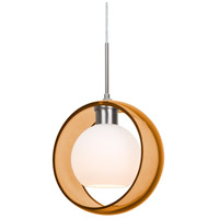 Besa Lighting 1JT-MANAAM-SN Mana 1 Light Satin Nickel Cord Pendant Ceiling Light