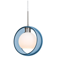 Besa Lighting 1JT-MANABL-SN Mana 1 Light Satin Nickel Cord Pendant Ceiling Light