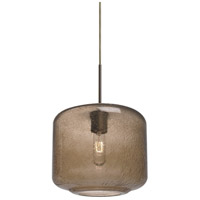 Niles 10 1 Light Bronze Cord Pendant Ceiling Light in Niles Smoke Bubble Glass