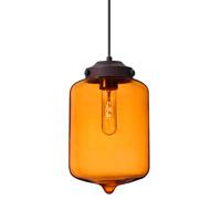 Besa Lighting 1JT-OLINAM-BR Olin 1 Light Bronze Pendant Ceiling Light in Transparent Amber Glass