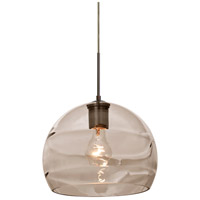 Besa Lighting 1JT-SPIR10SM-BR Spirit 10 1 Light Bronze Cord Pendant Ceiling Light in Smoke Spirit Glass