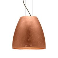 Besa Lighting Bella LED Bronze Pendant Ceiling Light in Copper Foil Glass