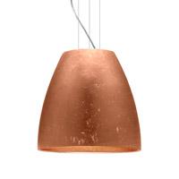 Besa Lighting Bella LED Satin Nickel Pendant Ceiling Light in Copper Foil Glass