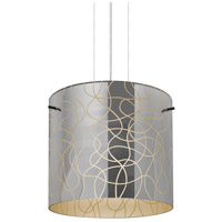Besa Lighting 1KG-LITH12CR-LED-SN Lithium 12 LED Satin Nickel Cable Pendant Ceiling Light