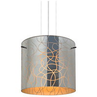 Besa Lighting 1KG-LITH12OR-LED-SN Lithium 12 LED Satin Nickel Cable Pendant Ceiling Light