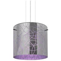 Besa Lighting 1KG-LITH12PL-LED-SN Lithium 12 LED Satin Nickel Cable Pendant Ceiling Light