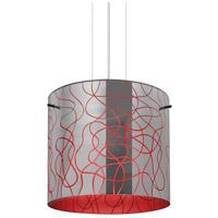 Besa Lighting 1KG-LITH12RD-LED-SN Lithium 12 LED Satin Nickel Cable Pendant Ceiling Light