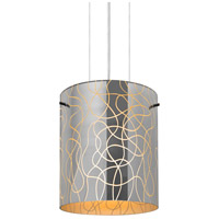 Besa Lighting 1KG-LITH8OR-SN Lithium 8 1 Light Satin Nickel Cable Pendant Ceiling Light