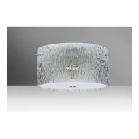 Besa Tamburo LED Semi-Flush Mount in Satin Nickel with Clear Stone Glass 1KM-400800-LED-SN