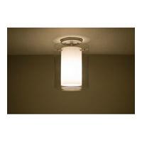 Besa Lighting Pahu LED 8 inch Satin Nickel Semi-Flush Mount Ceiling Light in Transparent Amethyst/Opal Glass